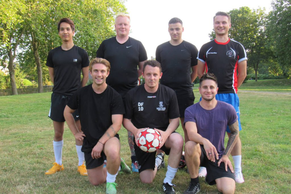 Hybrid media agency football team, part of what makes Hybrid, Bristol a great place to work